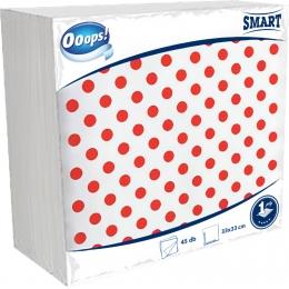 Ooops! Smart 45 db mintás szalvéta (1 rétegű)